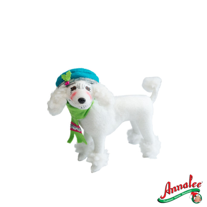 "WINTER WHIMSY POODLE New 2012 Xmas Hanukkah Bendable Decoration DOG 7"" Annalee"