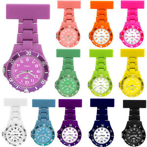 NY-London-Rubberized-Nurse-Watch-With-Pin-Fob-Non-Silicone-Toy-Stylish-Watches