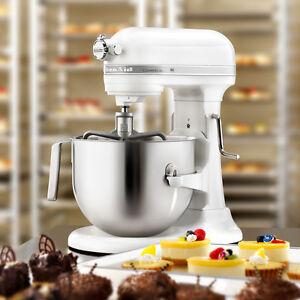 kitchenaid commercial 7 qt bowl lift nsf stand mixer ksm7990wh 1 3hp motor white. Black Bedroom Furniture Sets. Home Design Ideas