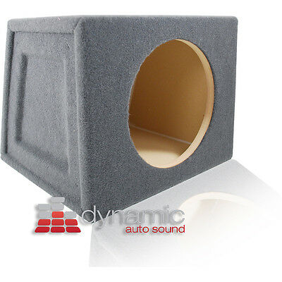 "Custom 10"" Single Car Hatchback Angel Subwoofer Round Box Enclosure Sealed"