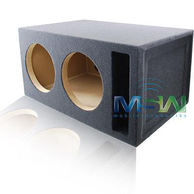 Dual 12-inch Custom-ported Car Audio Sub Woofer Enclosure 4 Cu. Ft. Tuned 32hz