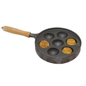Norpro Deluxe Danish Munk Aebleskiver Pan Cast Iron NEW