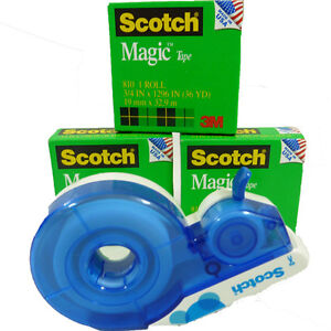 Scotch Magic 3+1 Rolls of Tape 3/4