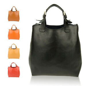 Women-Genuine-Leather-Large-Tote-Bag-Designer-Handbag-Shoulder-Cabas-Shopper