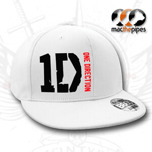 One-Direction-1D-Baseball-Flat-Peak-White-Rapper-Cap-Hat