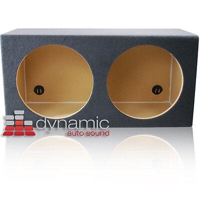 "Dual 15"" Round Subwoofer Box Sealed Custom Mdf Car Audio Sub Woofer Enclosure"