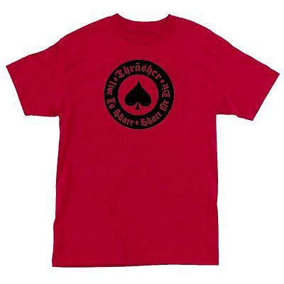 Thrasher Magazine Oath Spade Skateboard Shirt Red Xl on Sale
