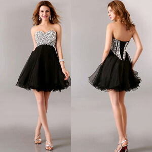 Short-Sweetheart-Wedding-Bridesmaid-Evening-Party-Prom-Cocktail-Homecoming-Dress