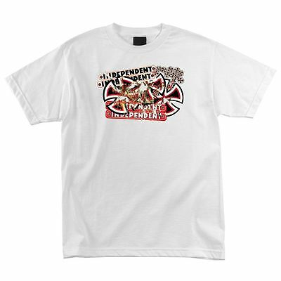Independent Trucks Scraped Skateboard Shirt White Lrg on Sale
