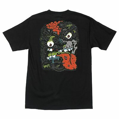 Santa Cruz Rob Roskopp Face 2 Skateboard Shirt Blk Xl on Sale