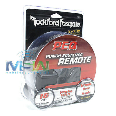 Rockford Fosgate Peq Equalizer Bass/treble Boost Remote For Punch Amplifiers