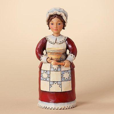Jim Shore Thanksgiving Pilgrim Woman Figurine A Feast It Shall Be 4027804