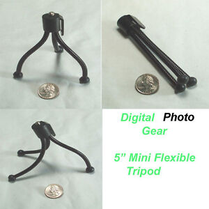 For Digital Camera Webcam Mini Flexible Travel Tripod Canon Fuji Nikon Kodak