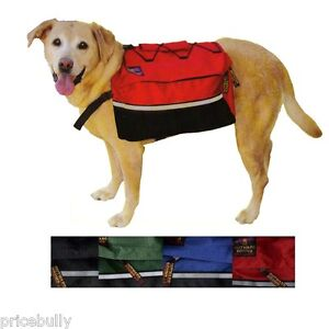 Deluxe-Saddle-Bags-Dog-Backpacks-for-Hiking-or-Camping-Choice-of-Sizes-Colors