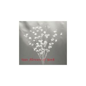 WEDDING FLOWERS  Crystal Acrylic Sprays 1 pack of 12 stems.