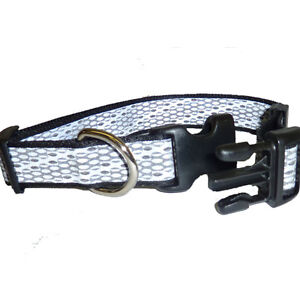 BMH46941-Black-Silver-Fits-Neck-18-26-Adj-Reflective-Large-Dog-Collar