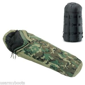 4-PC-MODULAR-MILITARY-SLEEPING-BAG-SYSTEM-INTERMEDIATE-PATROL-GORETEX-BIVY-COVER