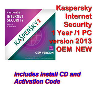 Kaspersky Internet Security 2013 AntiVirus 1 Year 1 PC GENUINE CD + KEY FULL