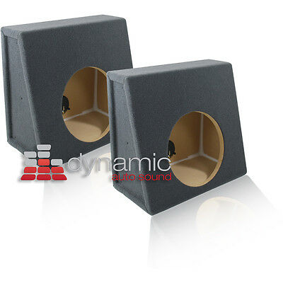 "Truck Hatchback Cab 10"" Car Subwoofer Sealed Angle Enclosure Box Pair Boxes"