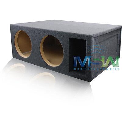 Dual 12-inch Custom-ported Car Audio Sub Woofer Enclosure 5 Cu. Ft. Tuned 34hz