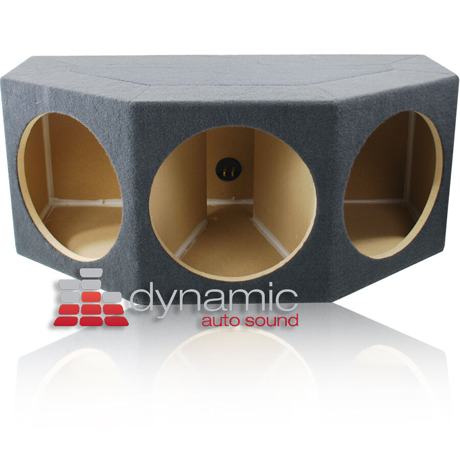 "Triple Sealed Mdf Angle 12"" Subwoofers 12w3v3 (3) Sub Enclosure Box Subs P3d412"