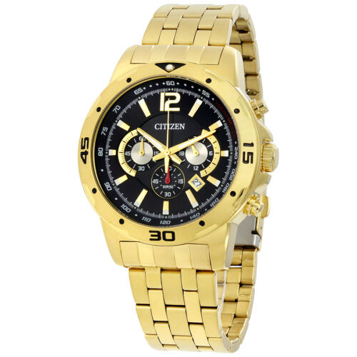 $161.99 - Citizen Chronograph Mens Gold Tone Watch AN8102-59E