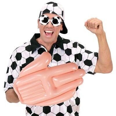 AUFBLASBARE XXL HAND Jumbo Riesen Winkehand Fussball Fan Kostüm Party Deko - Fußball Fan Kostüm