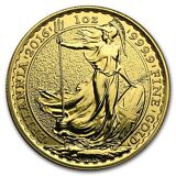 2016 1 oz Gold Great Britain Britannia Brilliant Uncirculated - SKU #94637