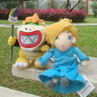 2Pcs Super Mario Bros Bowser Jr. Koopa Son & Princess Rosalina Plush Toy Doll - Bowser Sons