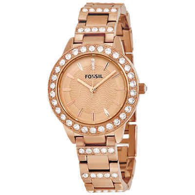 Fossil Jesse Crystal Rose Gold Dial Ladies Watch (Jesse Rose)