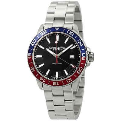 Raymond Weil Mens - Raymond Weil Tango Black Dial Pepsi Bezel Men's Watch 8280-ST3-20001