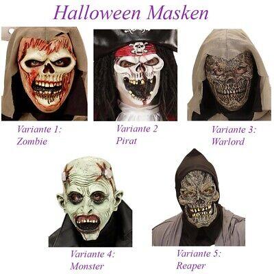 ZOMBIE PIRAT SENSENMANN SKELETT MONSTER MASKE KINDER Halloween Karneval Fest M12 ()