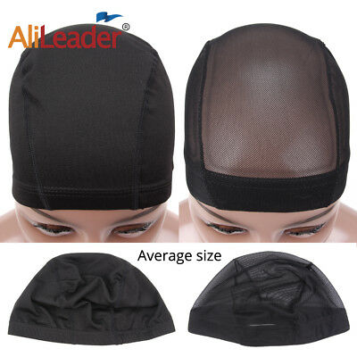 20 PCS Weaving Cap Mesh Wig Cap Breathable Elastic Dome Wig Caps For Making Wigs