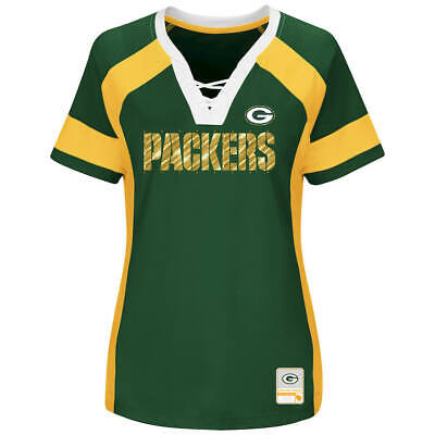 NEW MAJESTIC NFL Team Apparel GREEN BAY PACKERS  V-Neck Jers