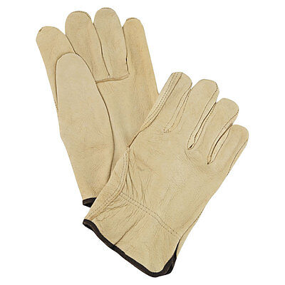 Drivers Straight Thumb - Memphis Glove 127-3400M Med. Straight Thumb Grain Leather Drivers