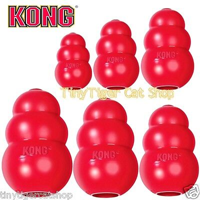 KONG CLASSIC Red Dog Toy treat rubber BRAND NEW Made in USA ()