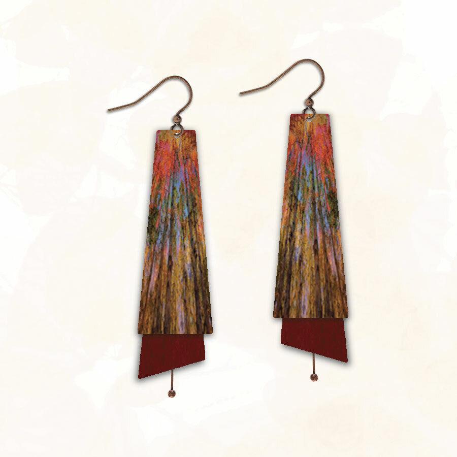 DC Designs ME1TE Earrings Antique Copper Hypoallergenic Wear