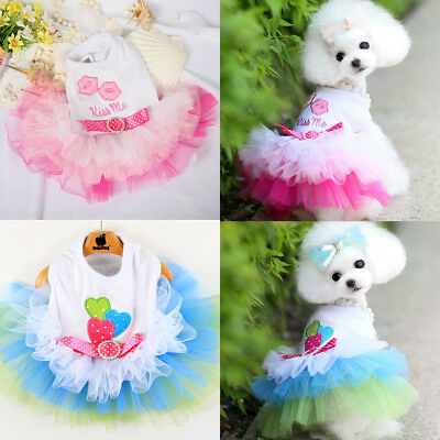 Cute Pet Puppy Cat Dog Skirt Princess Silk Tutu Dress Clothes Costume Apparel](Cute Dog Costume)