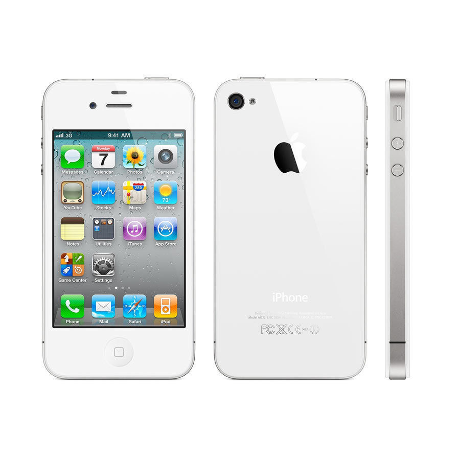 Apple iPhone 4S 16GB Factory Unlocked Smartphone Black/ White Perfect Condition