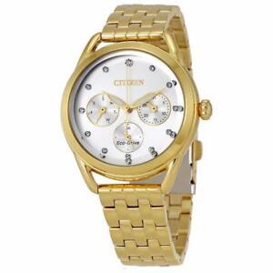 Citizen LTR Silver Dial Ladies Gold-tone Watch FD2052-58A