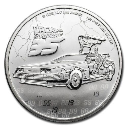 2020 Silver 1 oz $2 Back to the Future 35th Anniversary BU