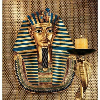 King Tut Mask (Pharaoh King Tut Egyptian Replica Ancient Golden Mask Wall Sculpture)