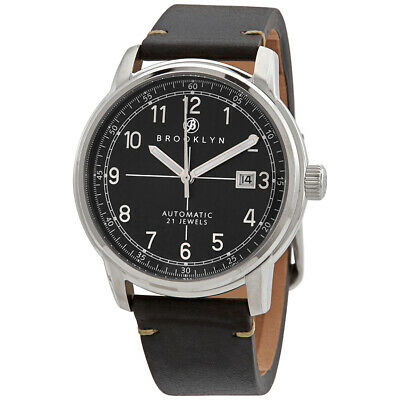 Brooklyn Watch Co. Gowanus Automatic Black Dial Men's Watch 8600A1