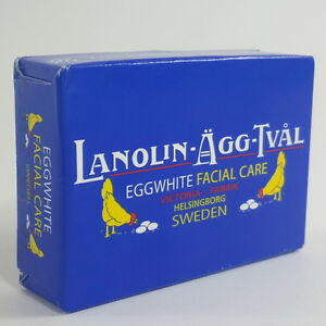 Victoria fabrik lanolin agg tval Sweden eggwhite soap facial care 15 g travel