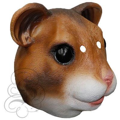 Latex Full Head Animal Cosplay Fantasy Hamster Fancy Dress Carnival Party Mask  (Hamster Costume Head)