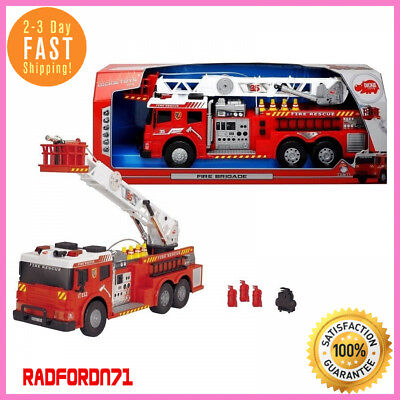 Kids Large Fire Truck Toy Fire Brigade Vehicle W/ Lights Sounds Real Water Pump