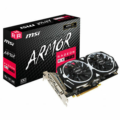 MSI Radeon RX 570 Armor 8G OC Gaming Grafikkarte (AMD 8GB GDDR5)