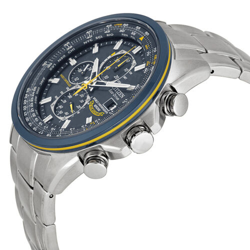 """Citizen Men's AT8020-54L """"Blue Angels"""" Stainless Steel Eco-Drive Dress Watch"""