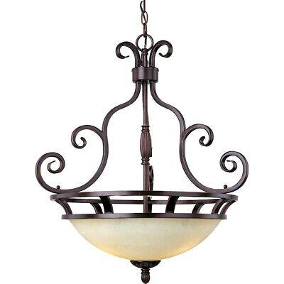 Maxim Manor 3-Light Invert Bowl Pendant Oil Rubbed Bronze - 12202FIOI Manor Traditional 3 Light