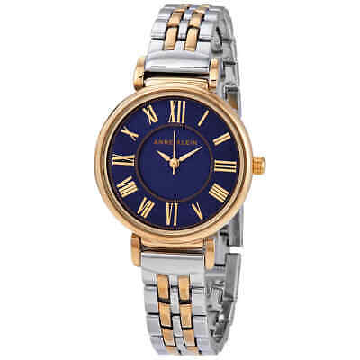 Anne Klein Navy Dial Ladies Two Tone Watch 2159NVTT